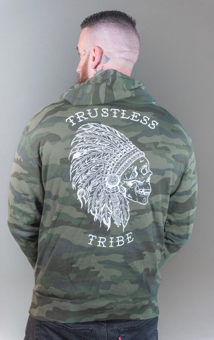 Trustless Chief Camo Zip-up Hoodie