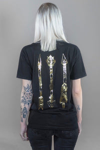 Tribal Arrows GOLD Foil T-Shirt