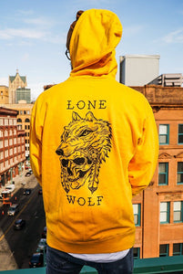 Lone Wolf Hoodie GOLD