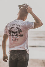 Load image into Gallery viewer, Never Die Easy White T-Shirt