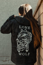 Load image into Gallery viewer, Lone Wolf Black Camo Pullover Jacket