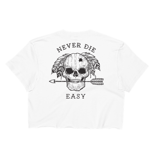 Never Die Easy White Crop