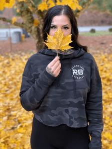 Trustless Chief Black Camo Crop Hoodie