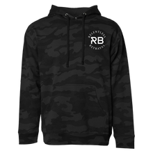 Load image into Gallery viewer, Never Die Easy Black Camo Hoodie