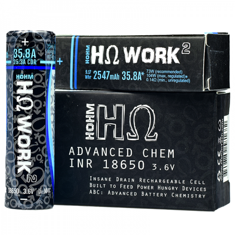 Hohm Work 2 - 18650 Battery By Hohm Tech ( 1 x 18650) - Blend & Vape