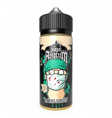 120 ml - Vape asylum - psycho surgeon  (inc 2 nic shots) - You vape