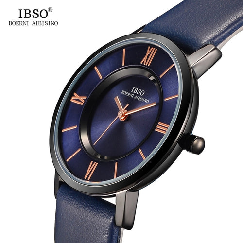 IBSO  Ultra-Thin Women leather Watches 4 colours