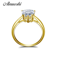 Load image into Gallery viewer, 2018 10K Yellow Gold  2 Carat Heart Shape Solitaire Simulated Diamond Rings