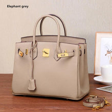 Load image into Gallery viewer, 35cm Luxury Genuine Leather Platinum Lock Handbags