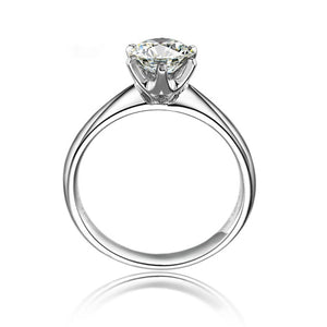 18K Gold 0.2 CT H-I/SI Round Cut Diamond  Ring