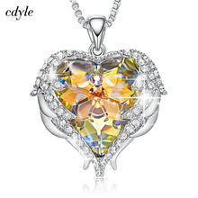 Load image into Gallery viewer, Heart of Angel Swarovski Crystal Necklaces