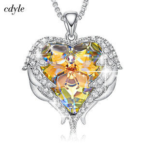 Heart of Angel Swarovski Crystal Necklaces