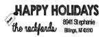 Happy Holiday Address Stamp