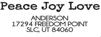 Peace Joy Love Address Stamp