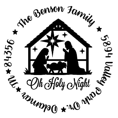 O Holy Night Address Stamp