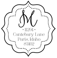 Fancy Monogram Address Stamp