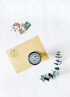 Wreath Monogram Address Stamp