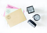 Fleur Divided Line Address Stamp