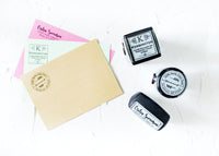 Bold Dotted Couple Address Stamp