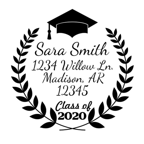 Fern Graduation Stamp