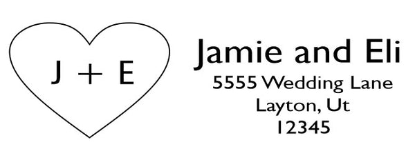 Sweetheart Address Stamp