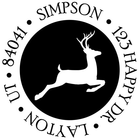 Filled Stag Address Stamp