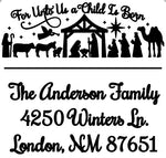 Nativity Address Stamp
