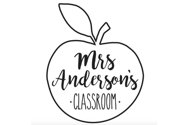 Apple Classroom Stamp