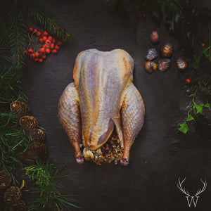 Roasting Pheasant with Chestnut Stuffing