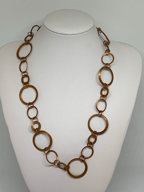 Hammered Hoop Necklaces