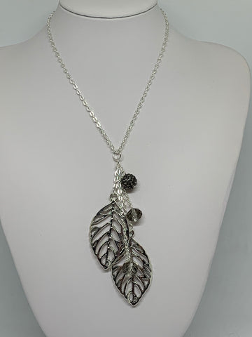 Charm Necklace - Open Leaves