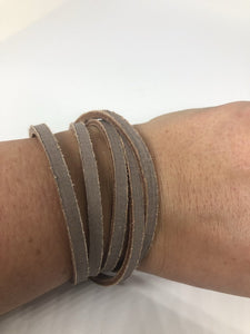 Genuine Leather Wrap Bracelets - Distressed