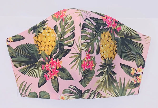 Pineapple party pink - FACE MASK