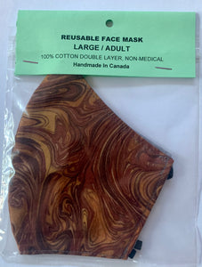 Brown Swirls - FACE MASK