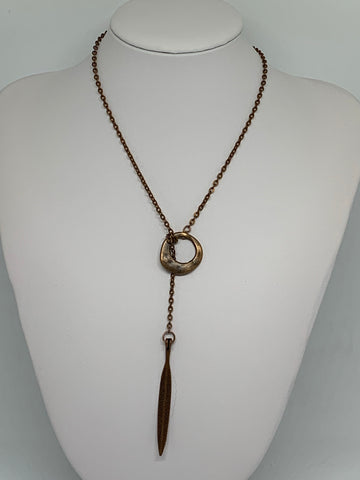 Loop-Thru Necklaces Antique Copper
