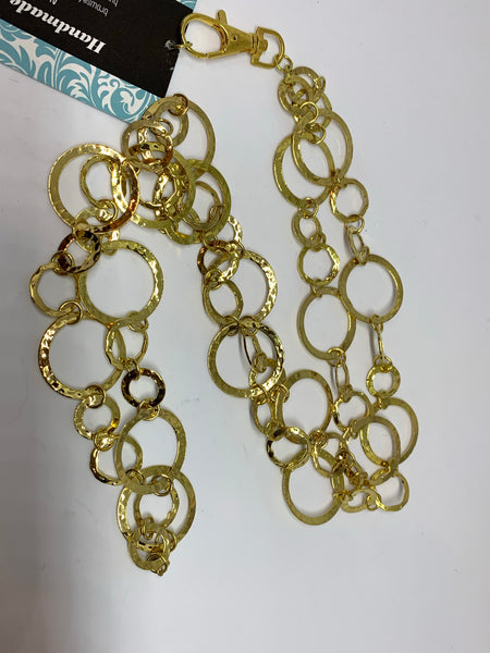 Breakaway Lanyard - Hammered Gold