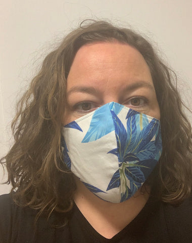 Blue tropical - FACE MASK