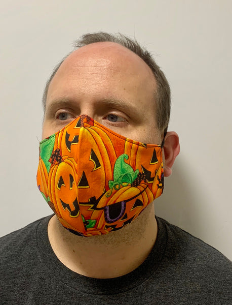 Halloween Pumpkin Patch- FACE MASK