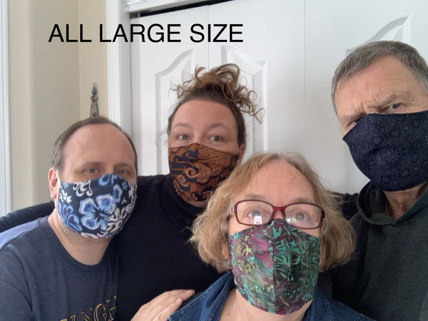Multiple Styles - FACE MASK - Fabric double layer