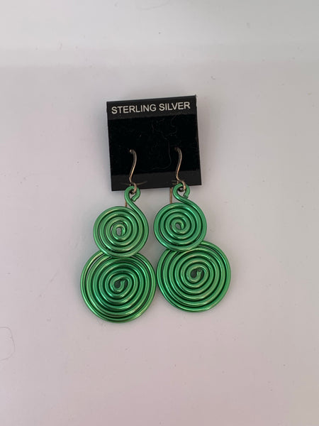 Swirls and Curls Colourful Earrings