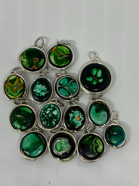 Marbelized Pendants
