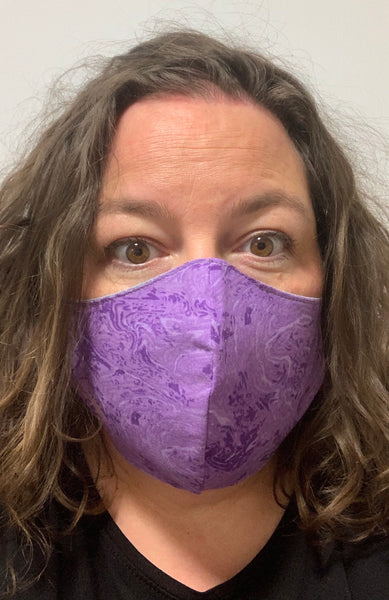Purple Swirls - FACE MASK