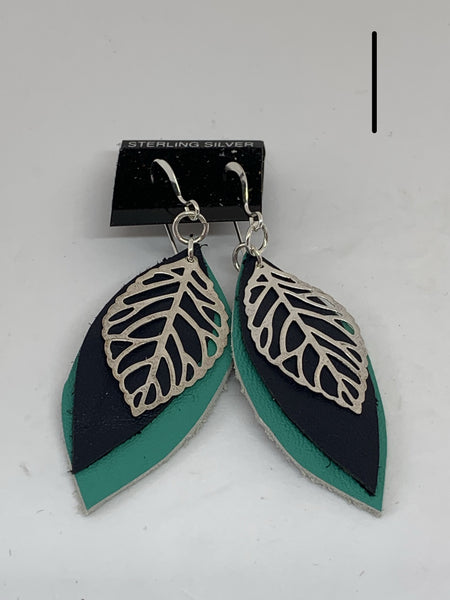 Leather Earrings - Layered Small