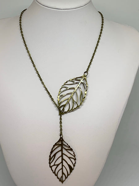 Leaf Loop Necklaces - ANTIQUE BRONZE