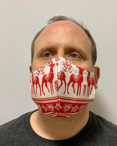 A Very Scandinavian Design Reindeer- FACE MASK