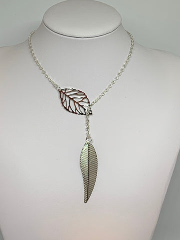 Leaf Loop Necklaces - SILVER