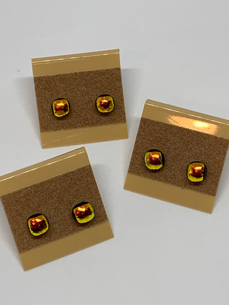 Tiny Glass Stud Earrings