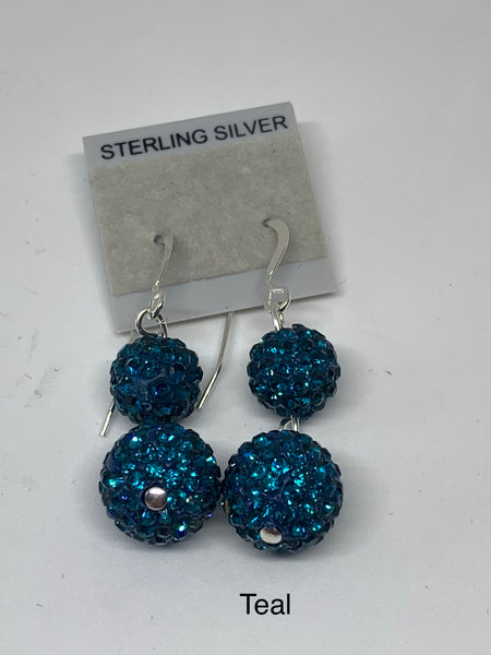 Double Sparkle Earrings (many colors available)