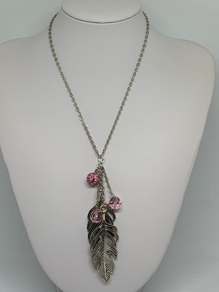 Charm Necklace - Lg Leaves