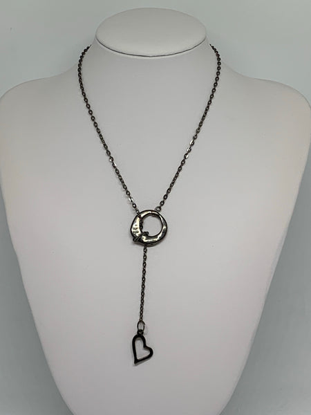 Loop-Thru Necklaces Gunmetal